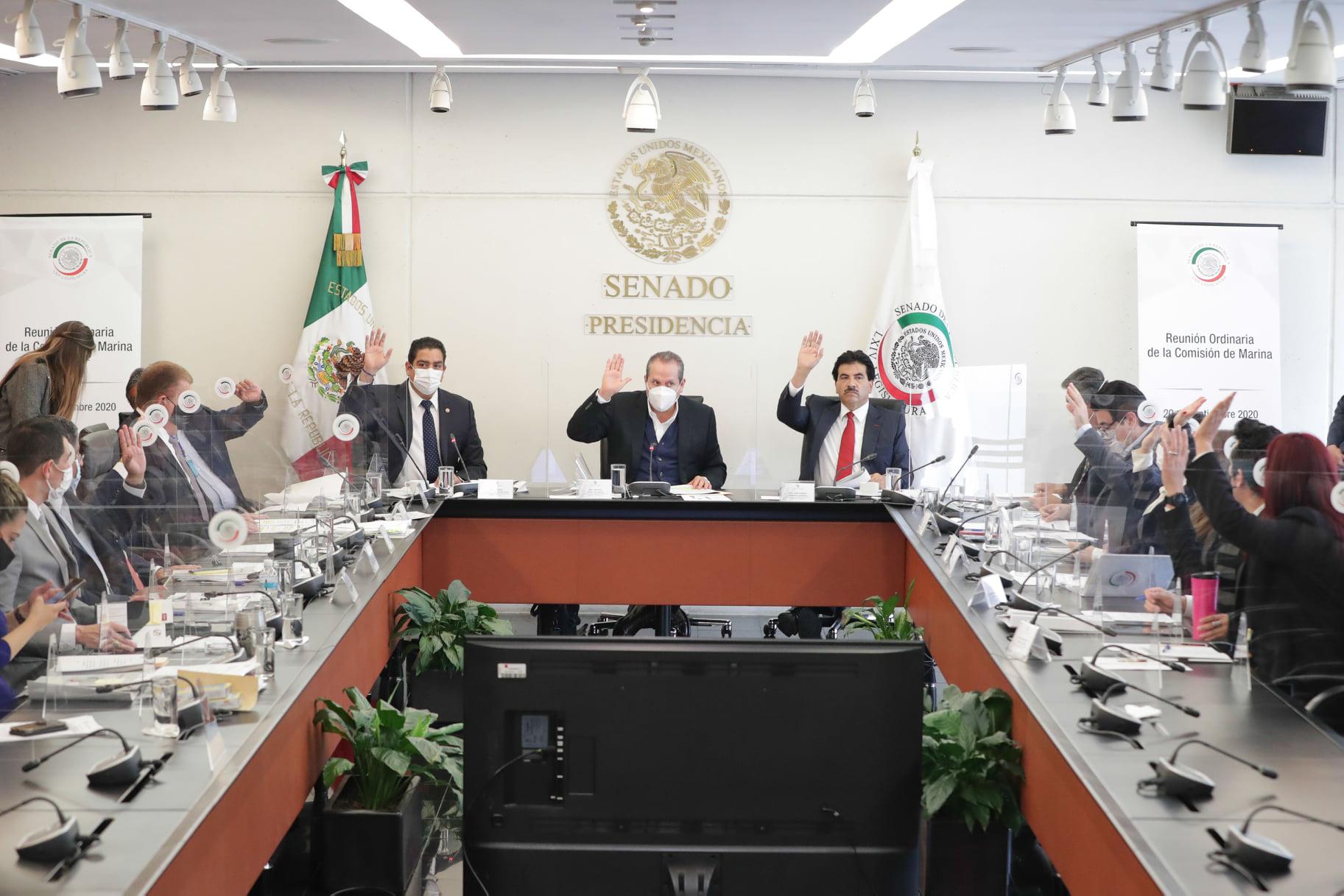 Senado de la República: Reunión de la Comisión de Marina.